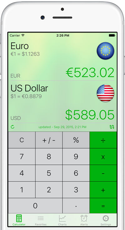 The Built In Calculator Lets You Focus On Two Selected Currencies One Screen Remains At All Times Making Data